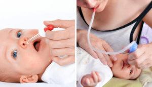 Чем лучше и как правильно промыть нос грудному ребенку