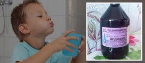 Как полоскать горло Йодинолом приготовления раствора и процедура полоскания