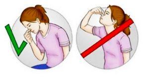 Как остановить кровотечение из носа и что делать запрещено?