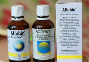 Как правильно принимать Афлубин в каплях?