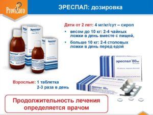 Эреспал описание препарата: назначение, дозировка для детей и взрослых
