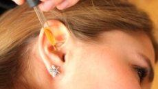 Как закапывать капли в уши?